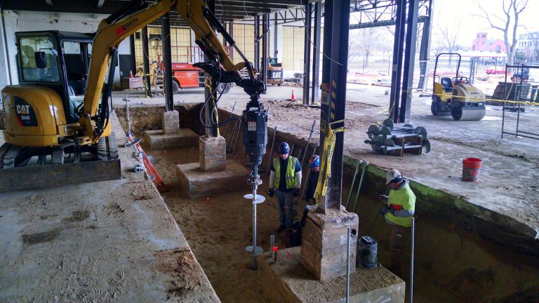 Experienced Helical Pile Installer - Reinforcing an Existing Foundation