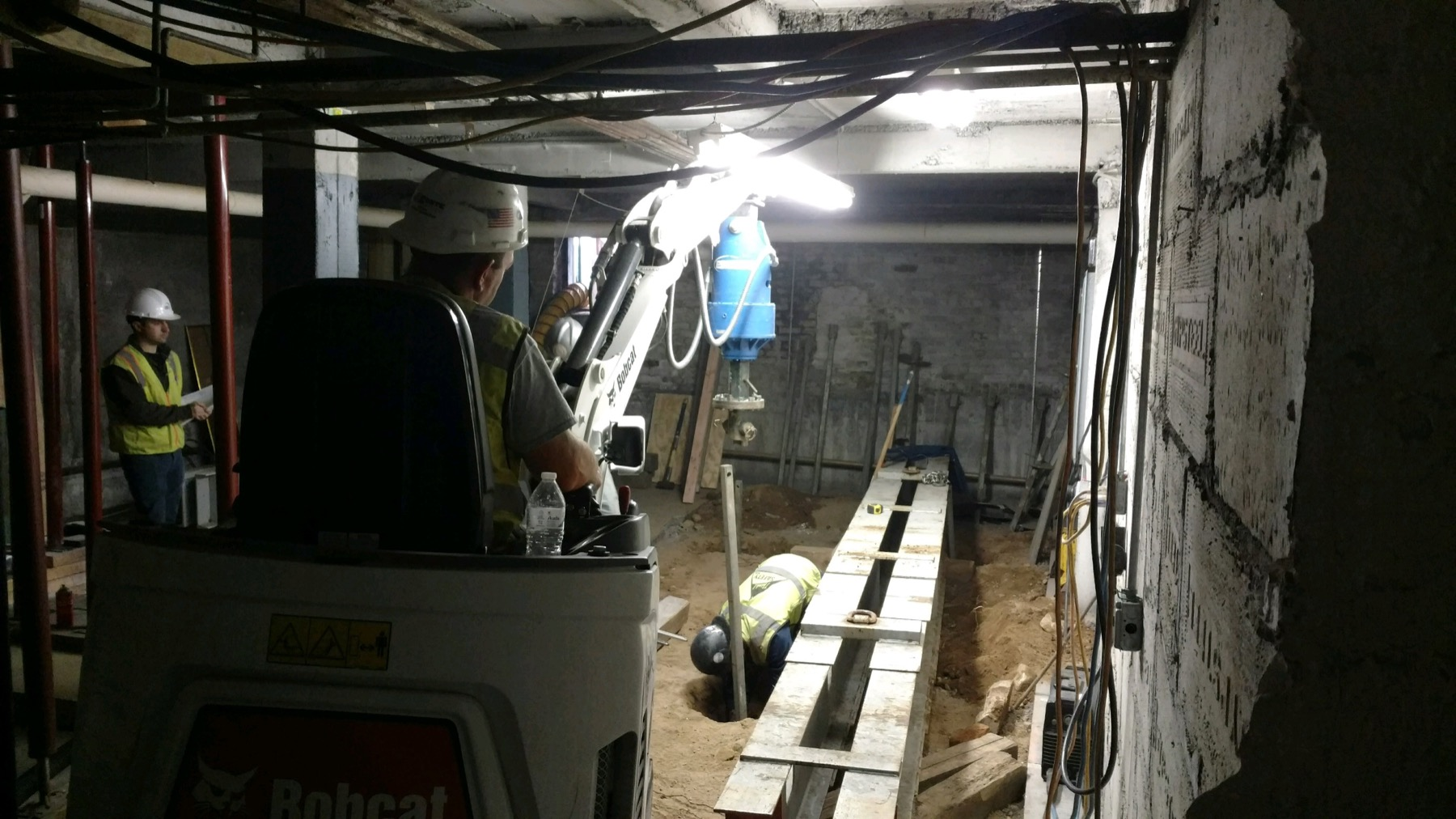 Load testing in a confined space