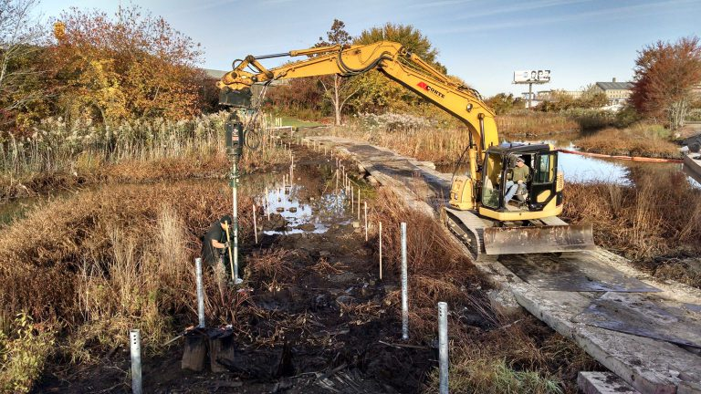 Logistically and structurally, using helical piles in wetland boardwalk construction makes a ton of sense